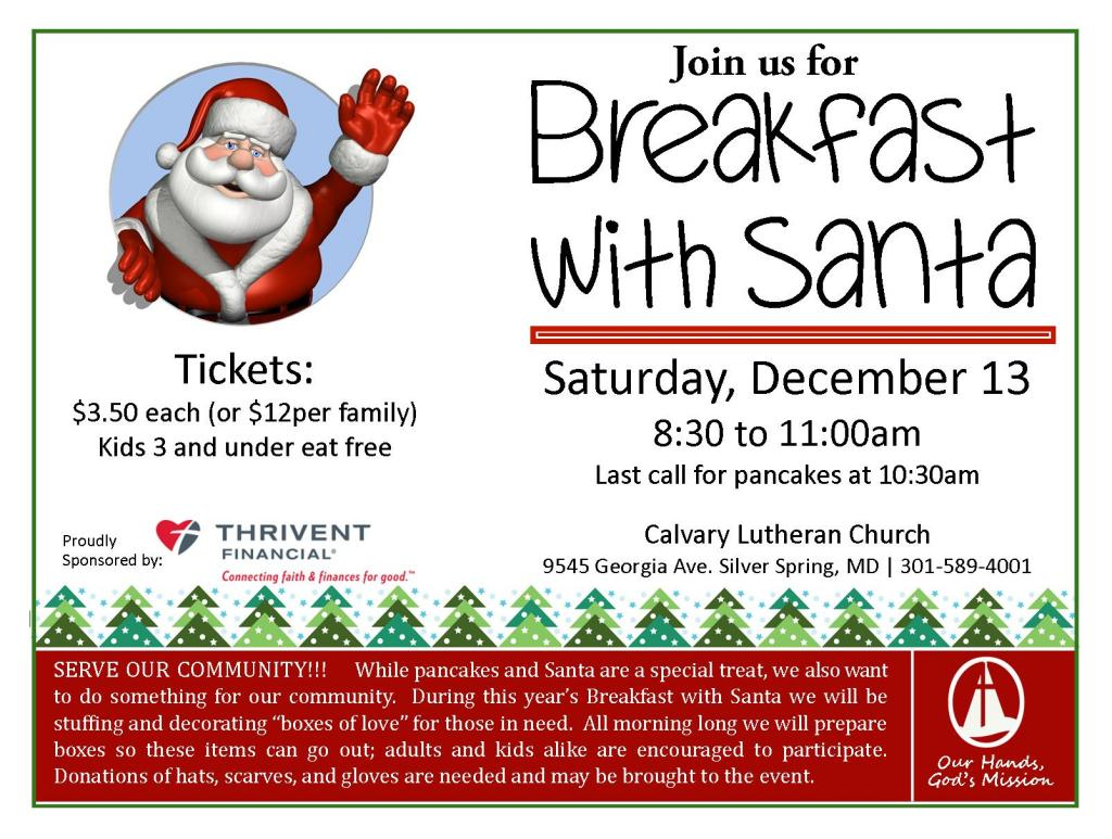 breakfast with santa 2014 with Thrivent logo