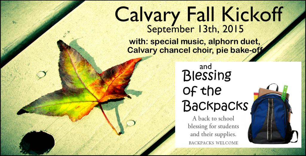 Calvary Fall Kickoff