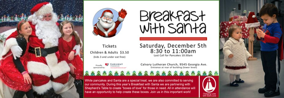 breakfast with santa collage